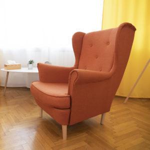 wnętrze gabinetu psychologa